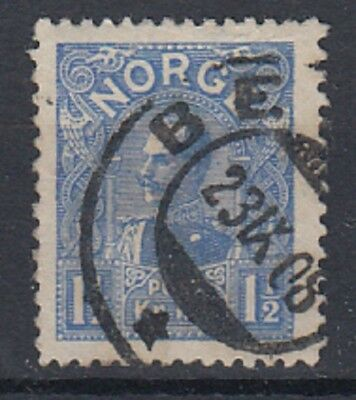 Norway 1907 - 1910 , 1½ Kr Blue SG128 fine used