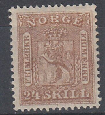 Norway 1863 24sk Brown fine MH SG18