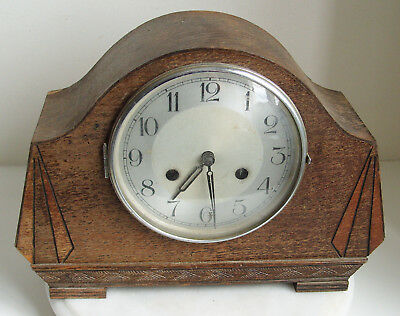 Antique Haller Art Deco Chiming Mantle Clock