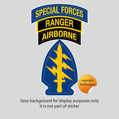 AR-2156 Army Special Forces Airborne Ranger Car Bumper Sticker Window Decal