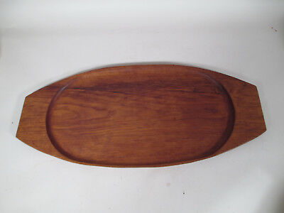 Vintage Mid Century Danish Modern Dansk Era Teak Wood Surfboard Serving Tray