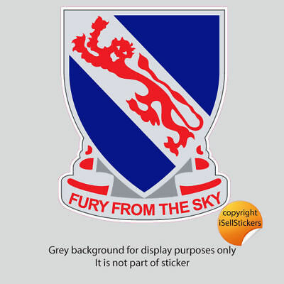 AR-2215 508th Airborne Infantry Red Devils Fury From The Sky Vinyl Decal Sticker