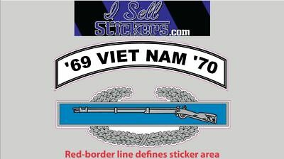 AR-2249 Army Viet Nam 69 - 70 Combat Infantry Badge Bumper Sticker Window Decal