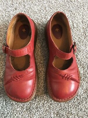 Dr Marten Red Leather Shoes Size Adult 5