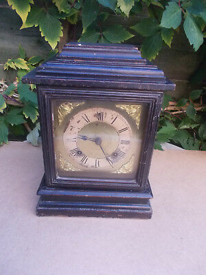 Antique Ansonia 8 Day Strike Mantle Clock Ebonised Model New York USA American