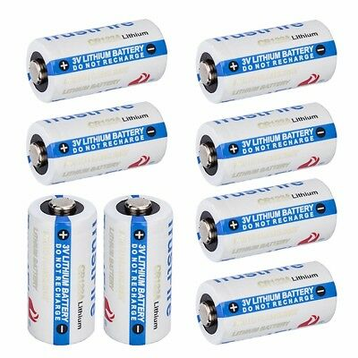 8x Trustfire 1400mah CR123A 3.0V Lithium Durable Singleuse Battery Fast Shipping