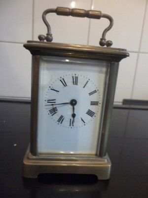 CARRAGE CLOCK french made WORKING WELL with KEY