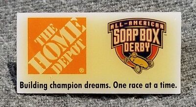 LMH PINBACK Pin SOAP BOX DERBY Kids Wooden Car Race HOME DEPOT Employee Champion