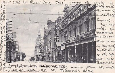 Australia: Western - Perth, Barrack St Postcard 1904, Posted Perth