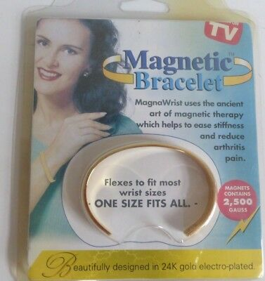 24k Gold Silver Copper Electro-Plated Magnetic Therapy Bracelet