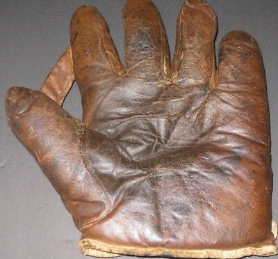 Vintage Leather Baseball Glove Antique Collectible Circa Early 1900's RARE $$$