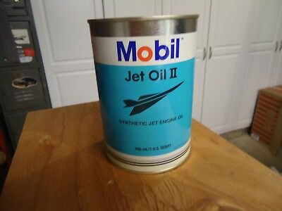 Mobil Jet Oil II Aviation Can Open From Bottom