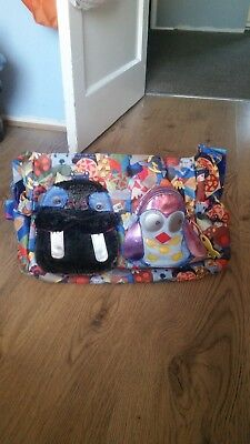 Large oilily baby changing bag - multi coloured