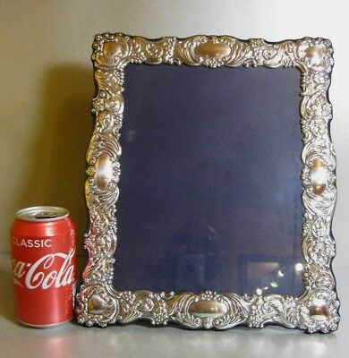X_LARGE R Carrs Of Sheffield Sterling Silver 2001 Ornate Photo Frame