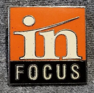 LMH PINBACK Pin INFOCUS In Focus Safety HOME DEPOT Employee Training Television