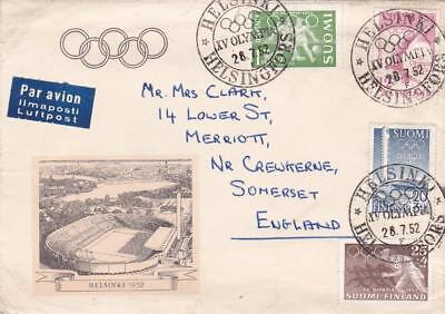 Finland 1952 Olympic Games Set On Illustrated Fdc Helsinki