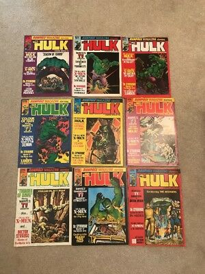 Marvel Rampage Monthly Magazines - The Hulk Issue 9 to 17  Job Lot *VGC*