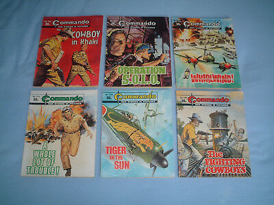 6 VERY EARLY OLD COMMANDO COMIC BOOKS 1700's WAR STORIES BUNDLE JOB LOT