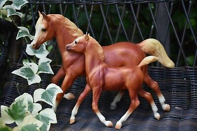 Breyer Running Mare & Foal Lite Chestnut Color Traditional Discontinued Rr Color