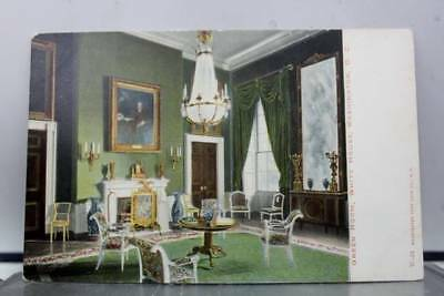 Washington DC White House Green Room Postcard Old Vintage Card View Standard PC
