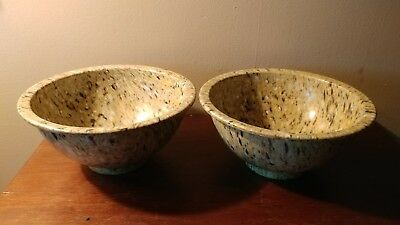Pair Of Texas Ware Spatter Bowls 8 Inch Used Some Scratches No Chips Cracks