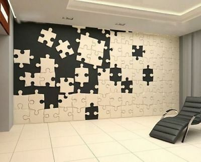 """3D Decorative Wall Panel Mould """"Puzzle"""" for plaster and gypsum"""