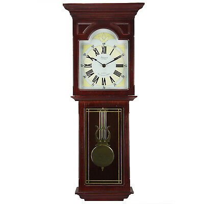 Bedford Wall Clock Collection Redwood