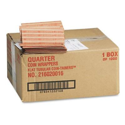 NEW Coin-Tainer Pop-Open Paper Coin Wrappers Quarters 1,000 Ct. FREE SHIPPING!!!