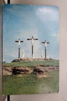 Rhode Island RI Manville Calvary Our Lady Fatima Retreat House Postcard Old View