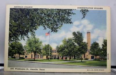 Texas TX Amarillo College Administration Building Postcard Old Vintage Card View