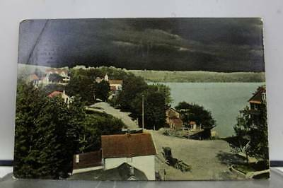 Scenic Mountain Lake Town Postcard Old Vintage Card View Standard Souvenir Post
