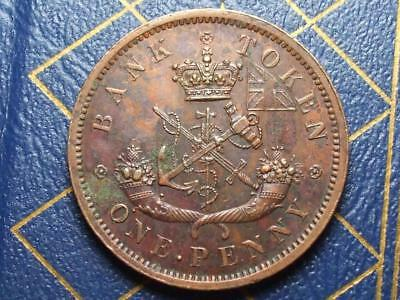 1857 Bank Of Uper Canada One Penny Token Lot 22