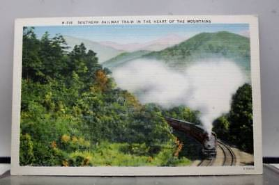 Scenic Southern Railway Train Mountains Postcard Old Vintage Card View Standard