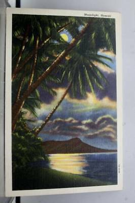 Hawaii HI Moonlight Postcard Old Vintage Card View Standard Souvenir Postal Post