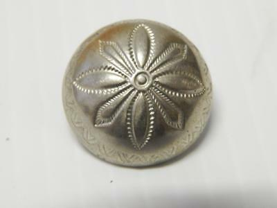Old Pawn Vintage Navajo Indian German Silver / Coin Concho Button Concha - Old