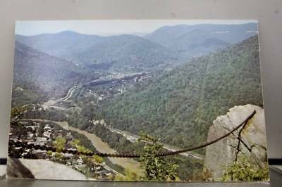 Kentucky KY Pineville Pine Mountain State Park Chained Rock Postcard Old Vintage