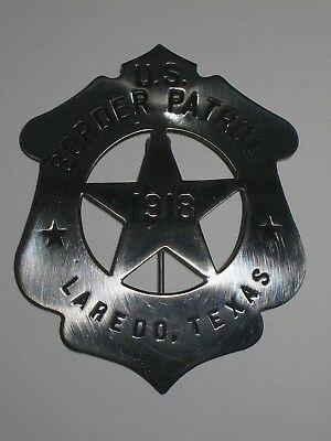 Antique U.s. Border Patrol Laredo Texas Carnes Hallmark Pinback Star Pie Plate