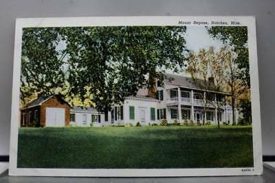 Mississippi MS Natchez Mount Repose Postcard Old Vintage Card View Standard Souv