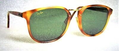 Ray-Ban USA Vintage 1980s B&L TraditionalS Blonde Tortoise W1106 Sunglasses+Case