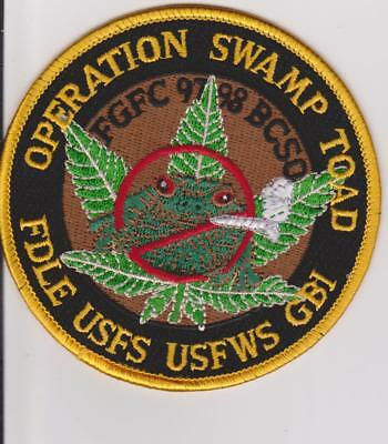 USFS USFWS Florida Game & Fish Operation Swamp Toad Game Warden Police Patch