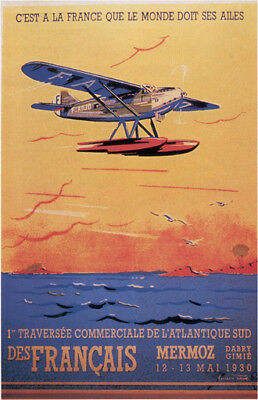 Vintage French Air Show Poster 1930