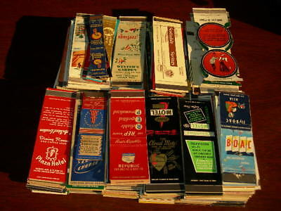Lot of 500+ matchcovers 1940-60