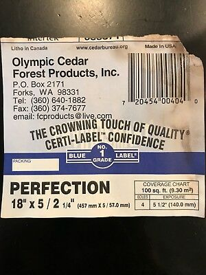 """Blue Label Western Red Cedar 18"""" perfection shingle at a 5.5 exposure."""