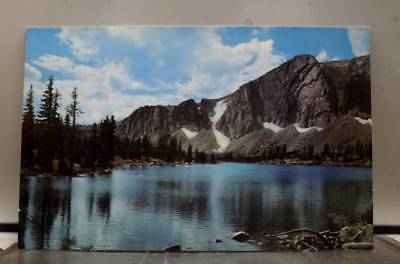 Wyoming WY Medicine Bow National Forest Mirror Lake Postcard Old Vintage Card PC