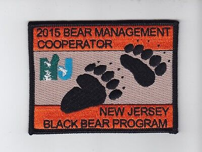 New Jersey Fish & Wildlife Bear Management Cooperator  Game Warden Patch