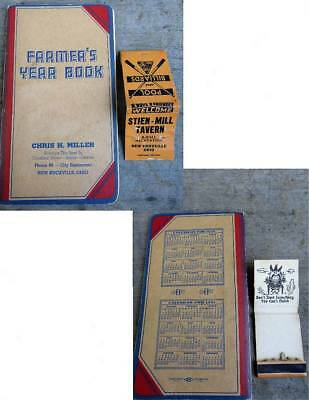 1950 Chris Miller New Knoxville Ohio Farmers Yearbook & Stein Mill Tavern Adv.