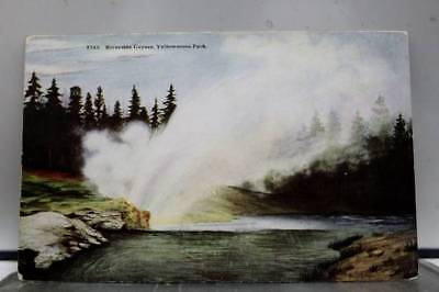 Yellowstone Park Riverside Geyser Postcard Old Vintage Card View Standard Post