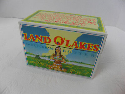 Vintage Land O' Lakes Sweet Cream Butter Advertising Metal Recipe Box