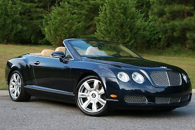 2007 Bentley Continental GTC GTC Convertible 2007 BENTLEY CONTINENTAL,GTC CONVERTIBLE,BLUE/TAN,LEATHER,57K MI,EXC IN AND OUT