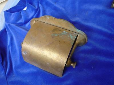 Antique Brass  Toilet Paper Holder with Cover